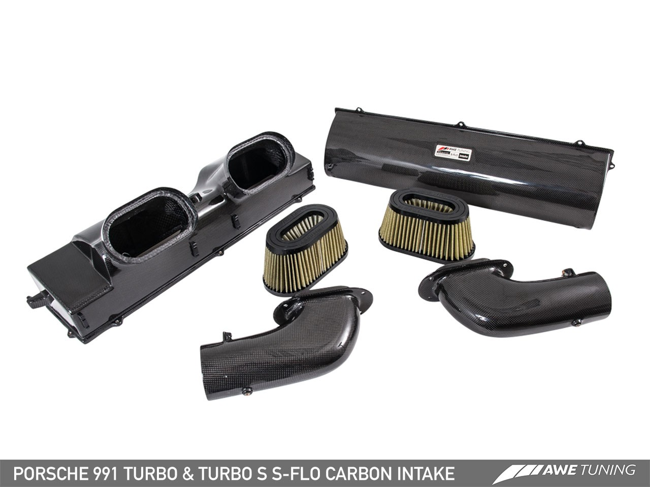 AWE S-FLO Carbon Intake for Porsche 991.1 / 991.2 Turbo and Turbo S