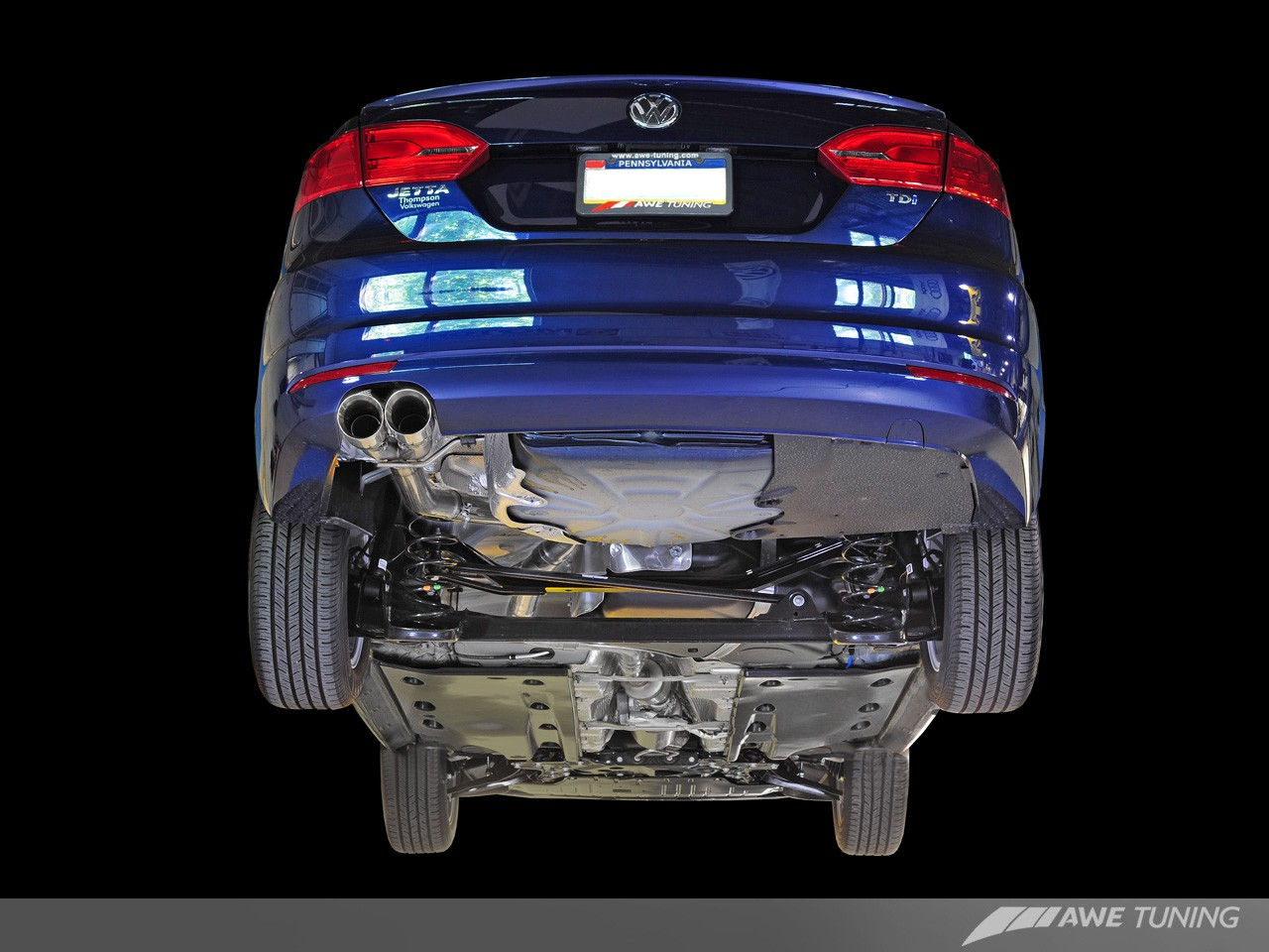 AWE Tuning Mk6 Jetta 2.0 TDI Touring Edition Exhaust System